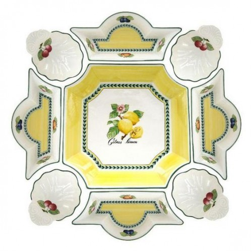 [Villeroy U0026 Boch] French Garden Fleurence Serving Bowl Set 9pc