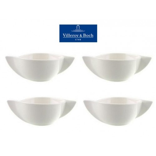 villeroy boch new wave cream soup cup 15 oz set of 4. Black Bedroom Furniture Sets. Home Design Ideas